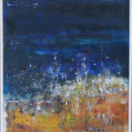 Beach at Night, Oil on Canvas, Size: 25w x 31h inches