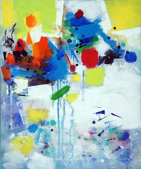 Chroma v, Acrylic on Canvas, Size: 24h x 24w inches