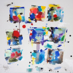 """Chroma 9, Moods, Oil & Acrylic on Canvas, 21""""h x 21""""w"""