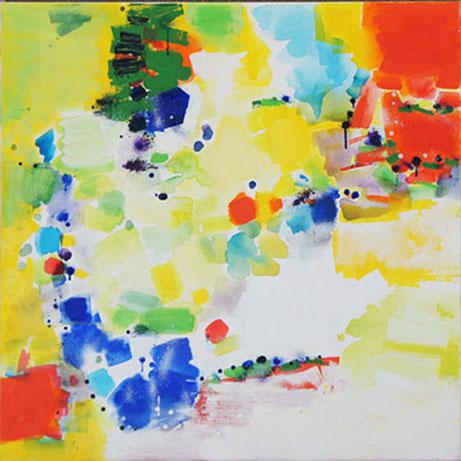 Island 3, Oil & acrylic on Canvas, Size: 36w x 36 inches