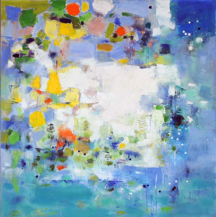 Island 8, Oil on Canvas, Size: 36h x 36w inches