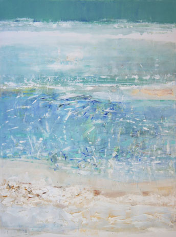 Low Tide, Oil on Canvas, Size: 48h x 36w inches