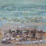 Low Tide 0, Oil & Sand on Canvas, Size: 23h x 23w inches