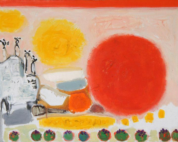 Miro's Desert World, Oil on Canvas, Size: