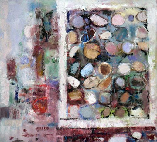 Italian Wall Window, Oil on Canvas, Size: