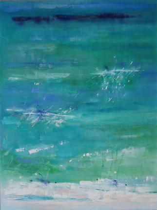 Sandestin, Oil & Acrylic on Canvas, Size: 48h x 36w inches