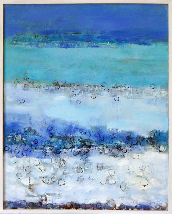 Serenity 0, Oil & Acrylic on Canvas, Size: