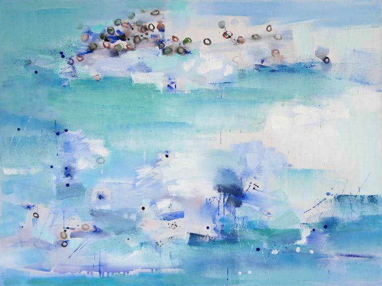 Silence 37, Oil on Canvas, Size: