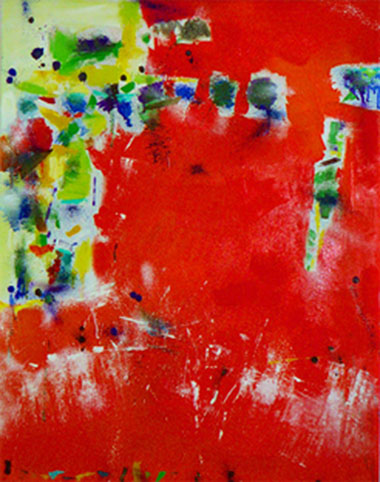 Sound 19, Oil on Canvas, Size: