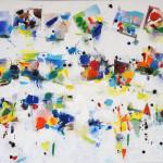 Chroma I, Acrylic on Canvas, Size: 24h x 40w inches