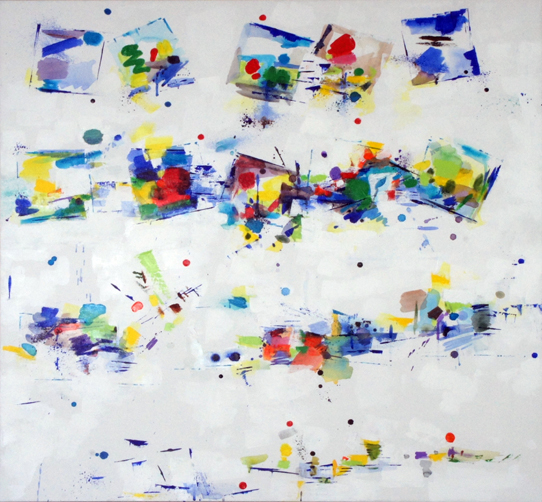 Chroma II, Acrylic on Canvas, Size: 36h x 36w inches