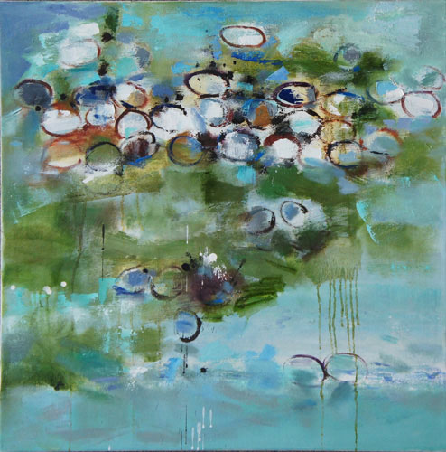 Low Tide 5, Oil on Canvas, Size: 36h x36w inches