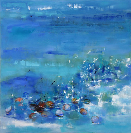 LowTide 9, Oil on Canvas, Size: 42h x 42w inches