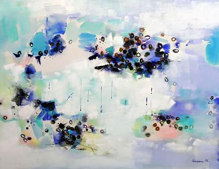 Silence 35, Oil & Acrylic on Canvas, Size:
