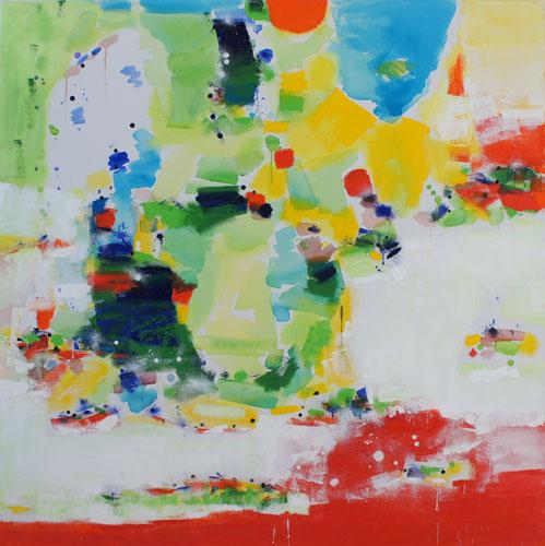 Sun Shower, Oil & Acrylic on Canvas, Size:
